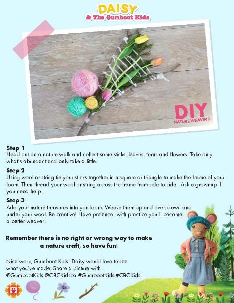 Daisy's plant weaving printable
