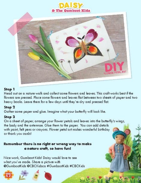 Daisy's flower petal art printable