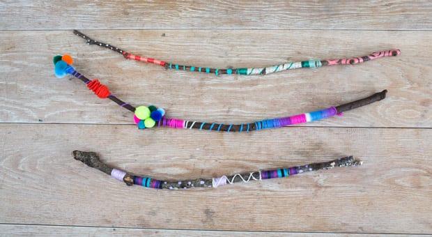 Daisy's rainbow nature wands