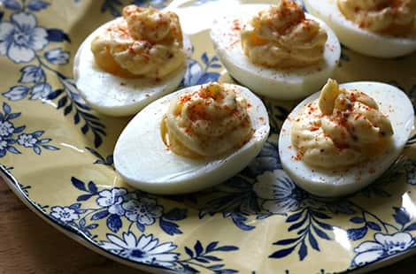 Devilled eggs made from Instant Pot.