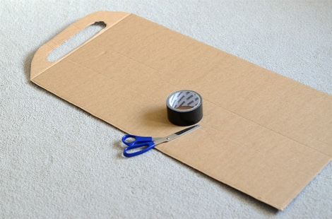 Everything you'll need to make a duct tape sled