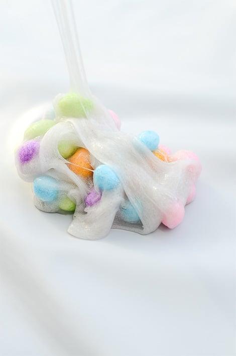 Gooey, yet colourful Easter egg slime.