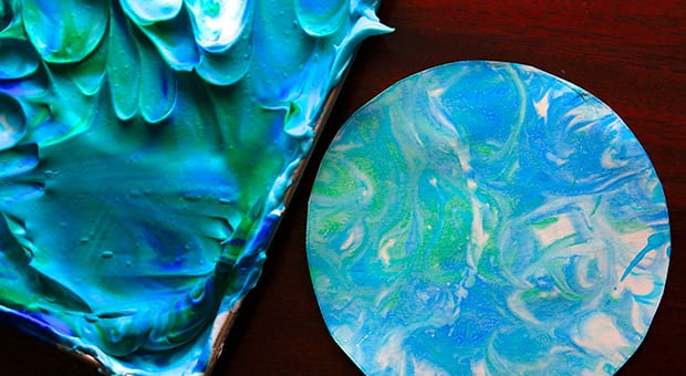 Final image of blue and green textured earth.