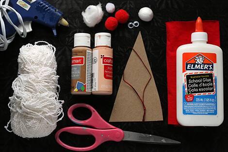 Everything you'll need to make fabric scrap Santas