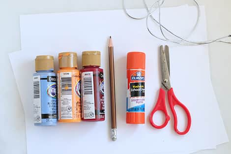 The materials you'll need to make this craft