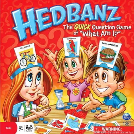 Hedbanz board game.