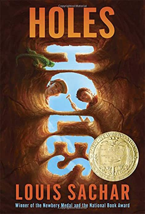 Book cover: Holes by Louise Sachar