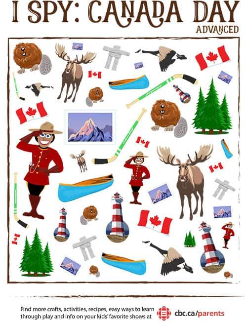 I Spy Canada Day