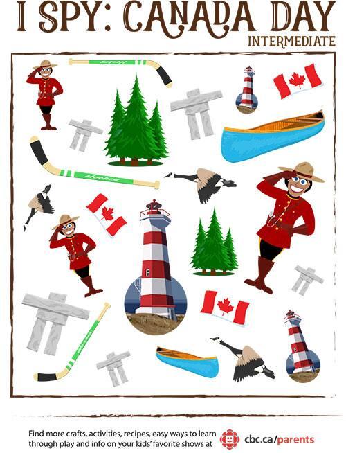 Canada Day I Spy
