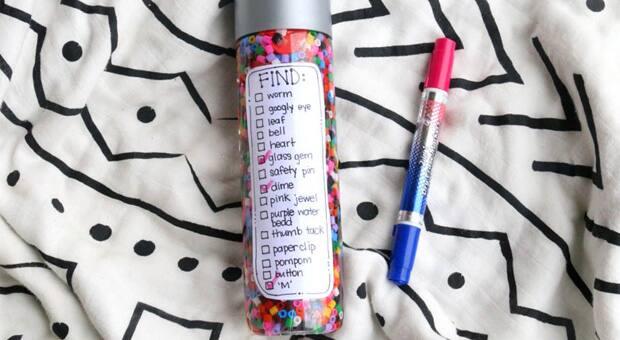 I spy bottle with dry marker