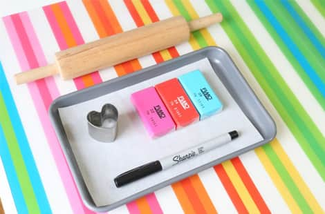 Everything you'll need to make fingerprinted love tokens