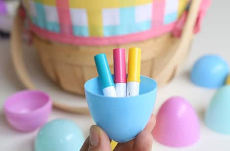 Mini-markers in a plastic Easter egg.