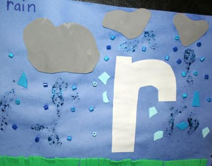 Lowercase Letter Craft R Is For Rain Play Cbc Parents