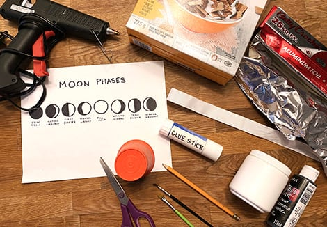 everything you'll need to make your moon phases craft