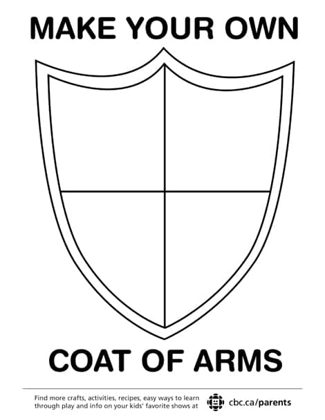 A coat of arms template.