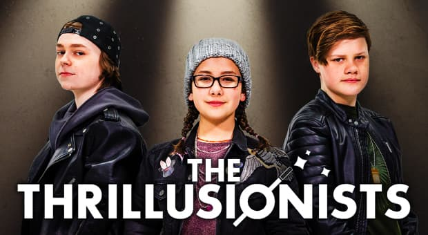 The three kid magicians from The Thrillusionists
