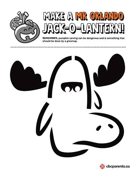 Mr. orlando jack-o-lantern template