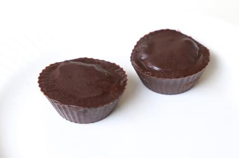 Two delectable peanut butter cups.