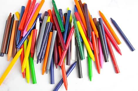 Peeled crayons.