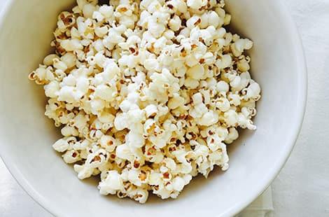 Regular popped popcorn.