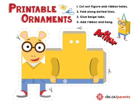 Arthur printable ornament