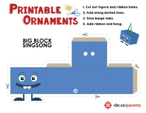 Big Block Singsong printable ornament