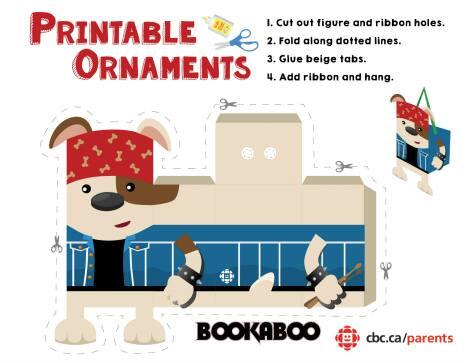 Bookaboo printable ornament