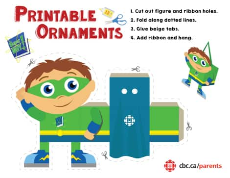 Whyatt from SuperWHY! printable ornament