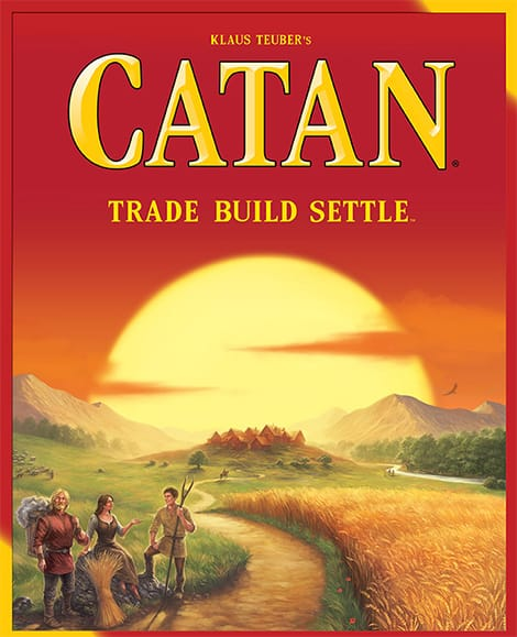 Settlers of Catan board game.