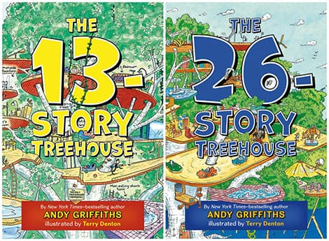 Book cover: The 13-Story Treehouse