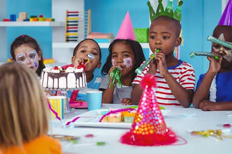 birthday party with a bunch of kids