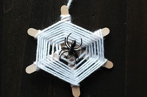 One spider web with a spider on top.