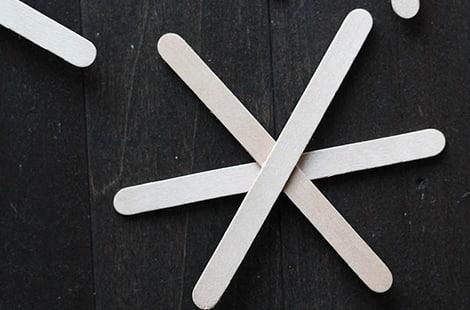 Star-shaped popsicle sticks.