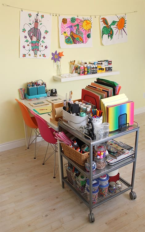 STEAM cart shown in author's home office/studio.