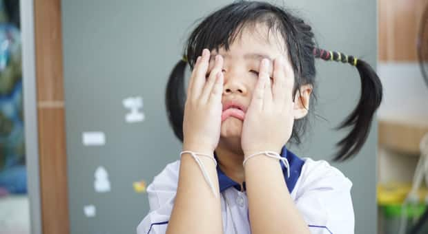 A frustrated little girl
