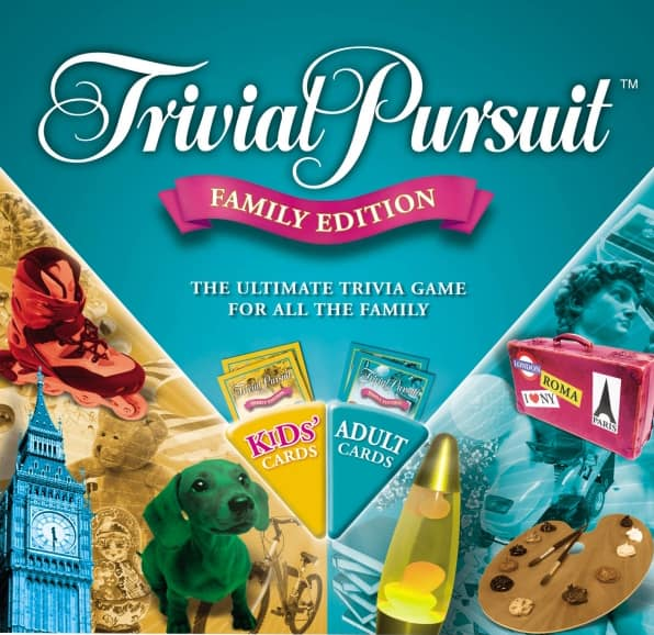 Trivia Pursuit board game.