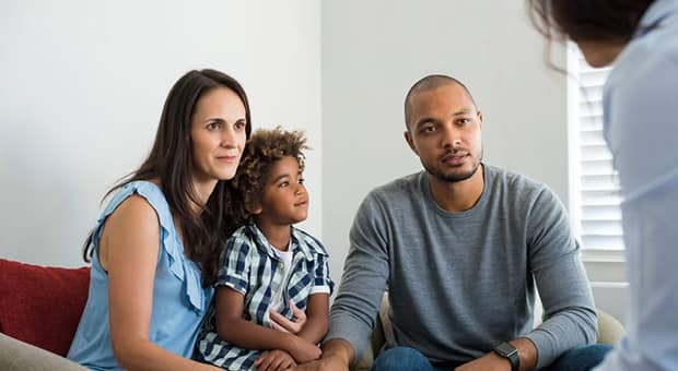 a family meets with a lawyer