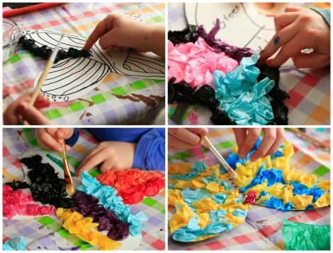 Pretty And Crinkly Tissue Paper Butterflies Play Cbc Parents