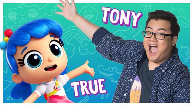 Tony and True from True and the Rainbow Kingdom