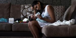 mother-tired-with-child