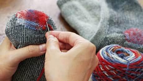 mending-clothes