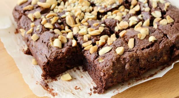 Peanut butter and banana brownies