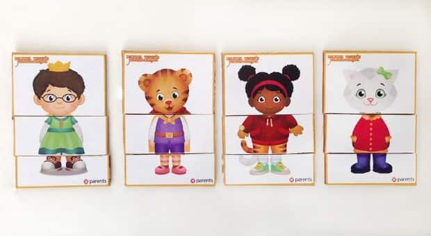 Daniel Tiger MixandMatch Printable Play Cards Play