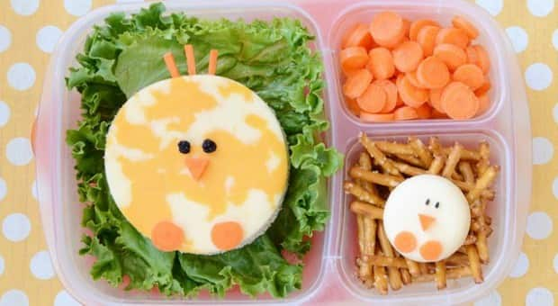 cute school lunch baby chicks and nests food cbc parents. Black Bedroom Furniture Sets. Home Design Ideas
