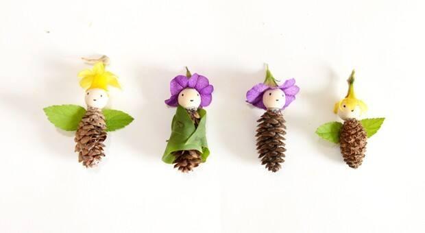 pine cone nature fairies