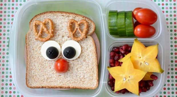 how to make an adorable rudolph bento for school lunch food cbc parents. Black Bedroom Furniture Sets. Home Design Ideas