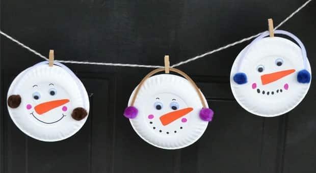 & Paper Plate Snowman Garland: Winter Craft | Play | CBC Parents