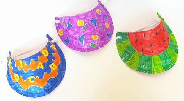 Paper Plate Sun Visors   Play