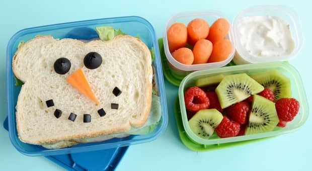 adorable snowman bento lunch food cbc parents. Black Bedroom Furniture Sets. Home Design Ideas