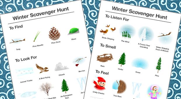 Winter scavenger hunt.